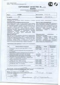 ПП 01030 ОАО «Уфаоргсинтез»